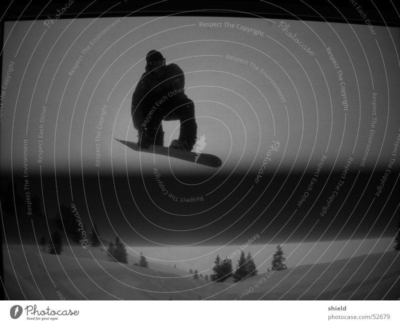 Winter Dark Snow Jump Stripe Screen Snowboard Reaction Freestyle Talented Snowboarding Snowboarder