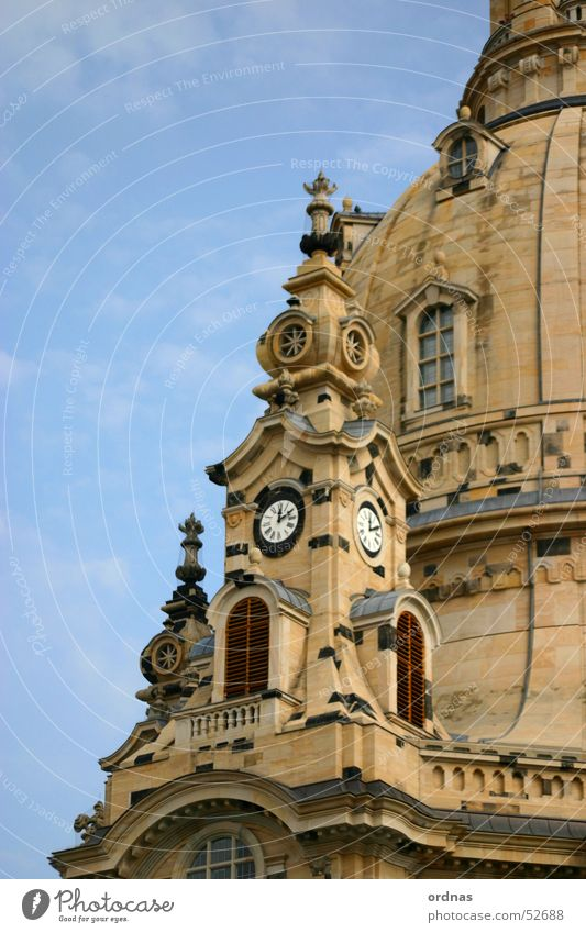 Religion and faith Germany Tower Clock Dresden Monument Destruction God Deities Saxony Old town Bomb House of worship Zoom effect Digits and numbers