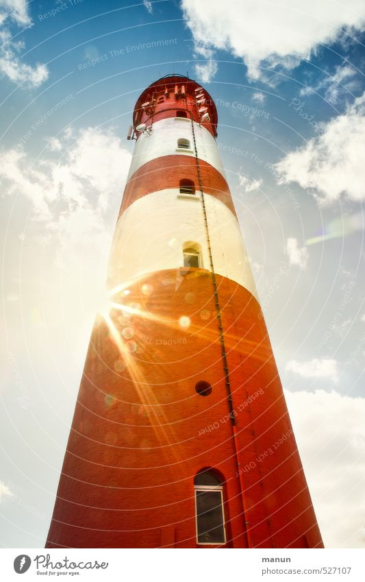 Lighthouse Vacation & Travel Tourism North Sea North Sea Islands Tourist Attraction Illuminate Colour photo Exterior shot Deserted Day Shadow Contrast