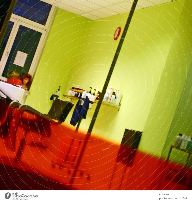 Colour Room Living or residing Interior design Store premises Services Diagonal Hairdresser Shop window