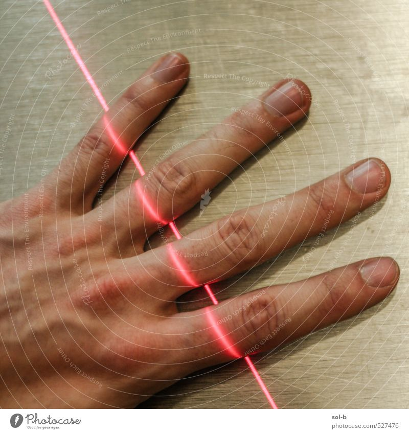 fingeRed Hand Work and employment Masculine Health care Illuminate Dangerous Fingers Threat Technology Hot Science & Research Pain Safety (feeling of) Caution Workplace Thief