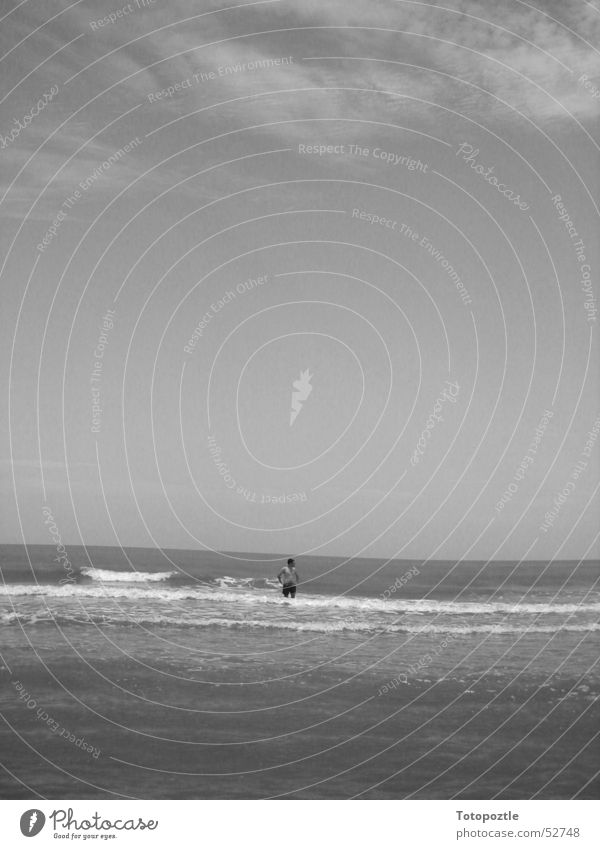 Alone far and wide. Veracruz Loneliness Beach Waves Mexico stranded lonely Water wave