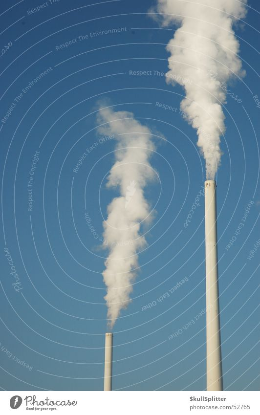 Sky Energy industry Exhaust gas Chimney Environmental pollution Electricity generating station Coal power station