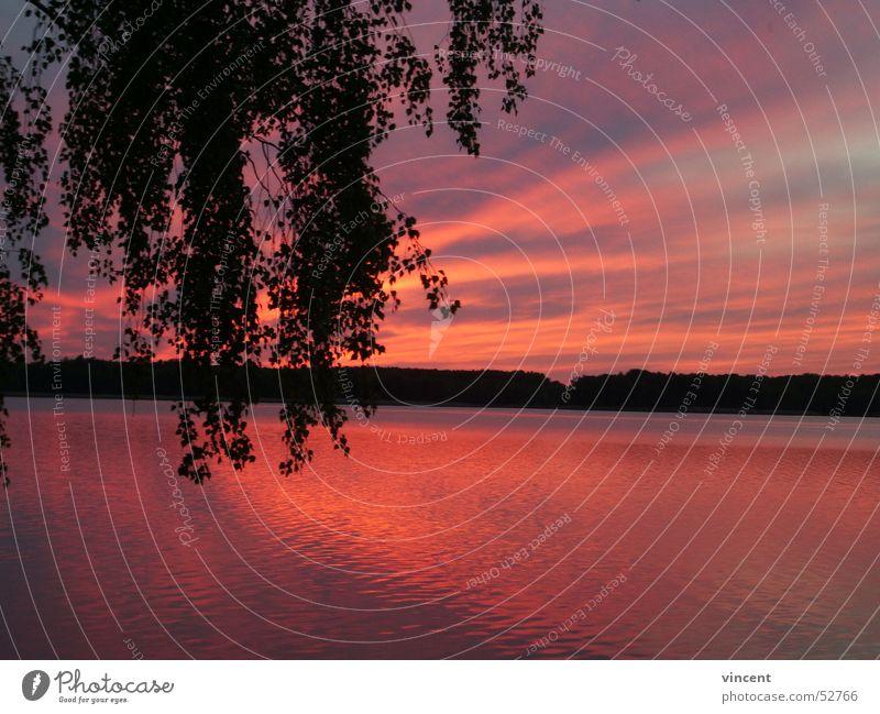 Water Sun Ocean Red Beach Calm Loneliness Lake Pond Dusk