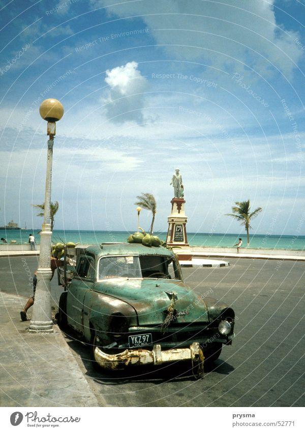 Sun Ocean Summer Beach Vacation & Travel Fruit Vintage car