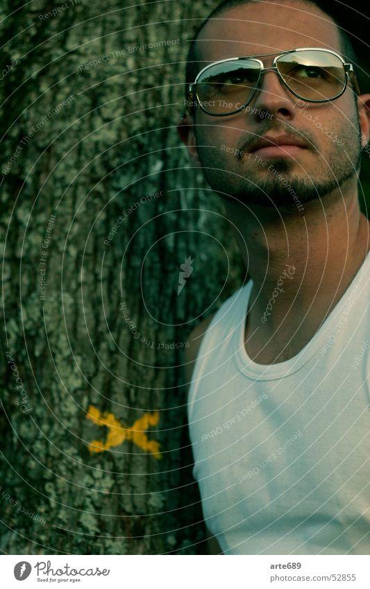Tree Facial hair Sunglasses Undershirt South American Spaniard
