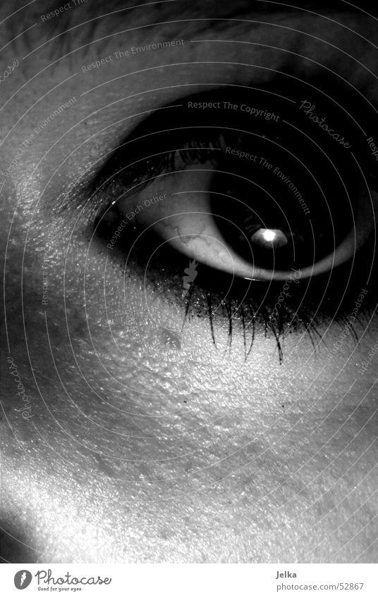 Black Eyes Dark Skin Observe Creepy Eyelash Pupil Wearing makeup Women's eyes