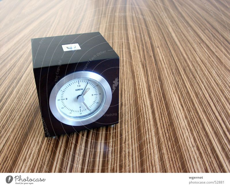 Wood Line Time Clock Design Date Alarm clock Tropic trees Oversleep Lateness