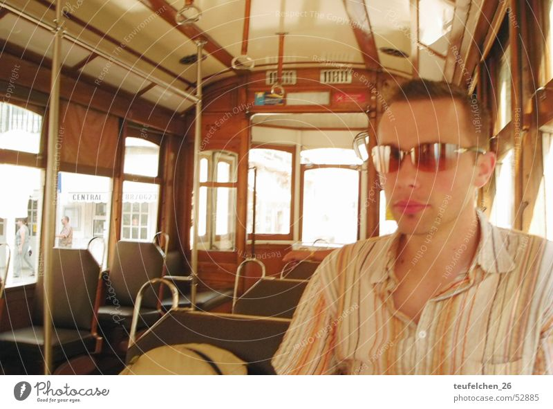 Old Modern Cool (slang) Retro Sunglasses Portugal Tram Lisbon