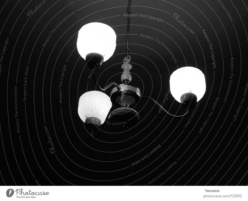 lamp Lamp Ceiling light Black & white photo B&W