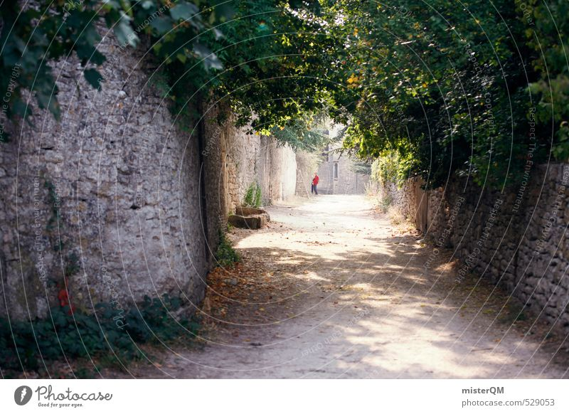 French Style XIX Art Esthetic Contentment Alley Vacation photo Wall (barrier) France Lanes & trails Street Romance Colour photo Exterior shot Deserted