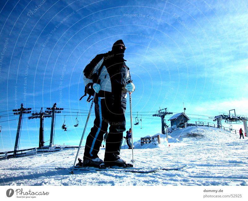 Blue Sun Winter Sports Above Railroad Driving Peak Skis Lady Austria Attacker Mount Kreischberg