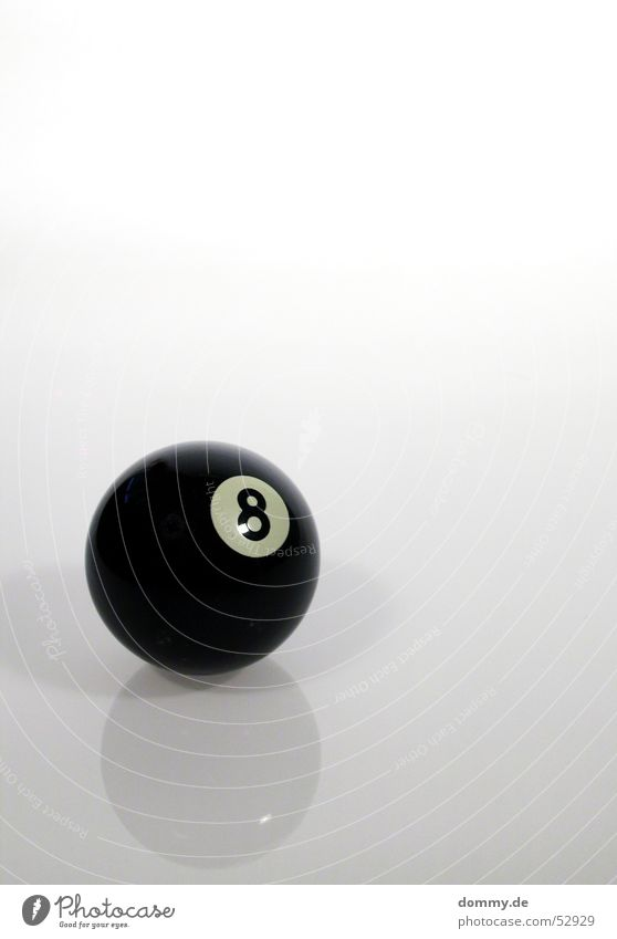 8-Ball Round Black Pool (game) White Gray Playing Digits and numbers spieglung Shadow