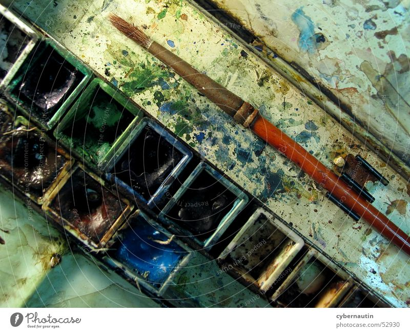 Colour Painting (action, work) Paintbrush Watercolors
