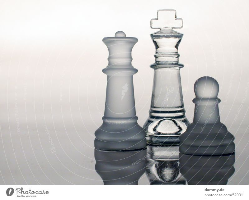 Playing Line Glass Back Stand Round Clarity Smoke Lady King Chess Chessboard Chess piece Board game
