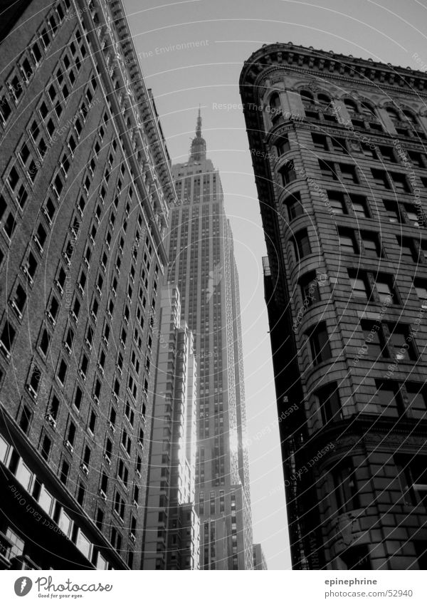 NY New York City High-rise Black & white photo