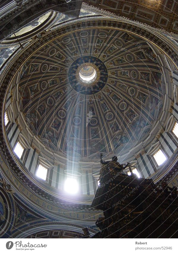 Enlightenment? St. Peter's Cathedral Domed roof Light Summer Rome Impression Beam of light Religion and faith Snapshot