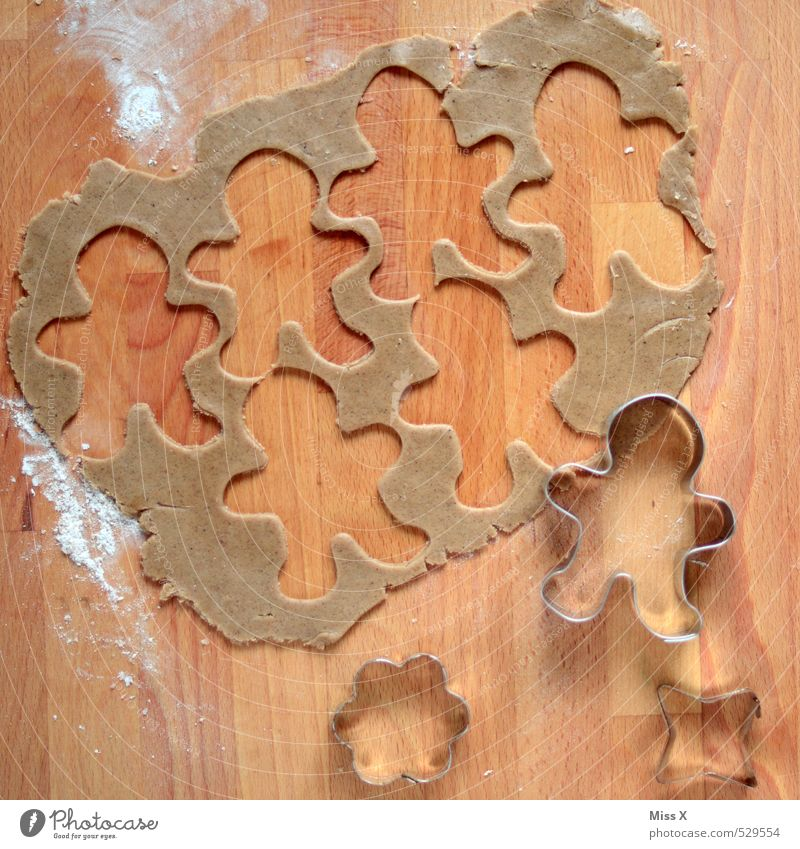 Man Christmas & Advent Wood Group Food Masculine Nutrition Cooking & Baking Sweet Many Delicious Candy Baked goods Dough Raw Cookie