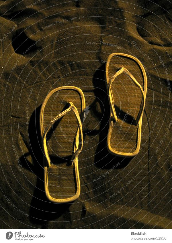 Traces in the sand Flip-flops White Footwear Physics Soft Hot Beach Vacation & Travel Gran Canaria Summer Relaxation Calm Esotericism Majorca Ibiza Night