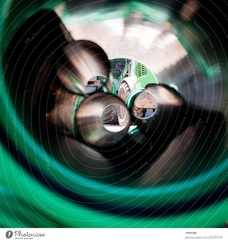 Green Exceptional Perspective Change Round Construction site Industry Pipe Excavator