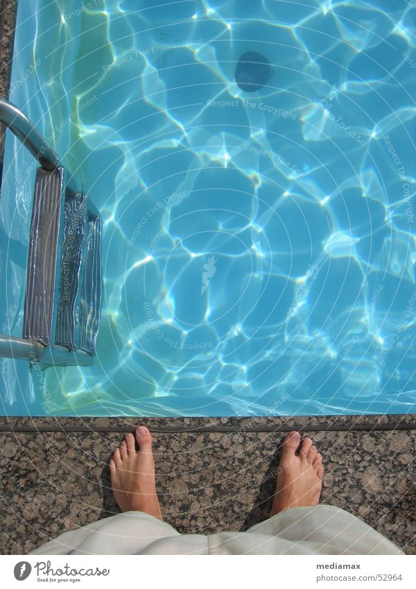 Water Blue Feet Think Wait Swimming pool Stand Side Stupid Ladder Edge Basin