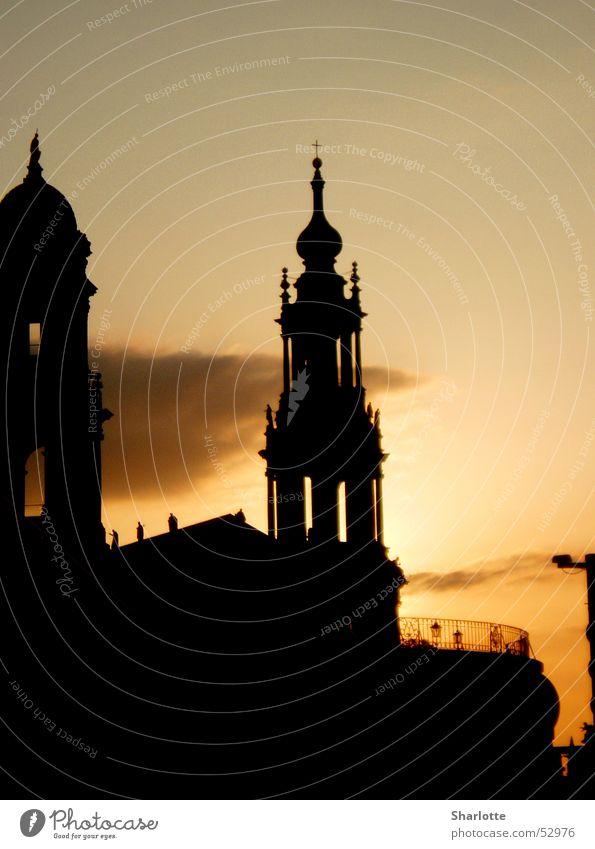 Sun City Joy Dark Happy Romance Tower Dresden Sunset Saxony