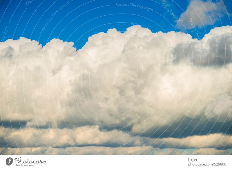Clouds in the sky Nature Sky Weather Wind Gale Movement Threat Dark Blue Black Moody Cloud formation layering Dramatic Cumulus Bad Low pressure zone