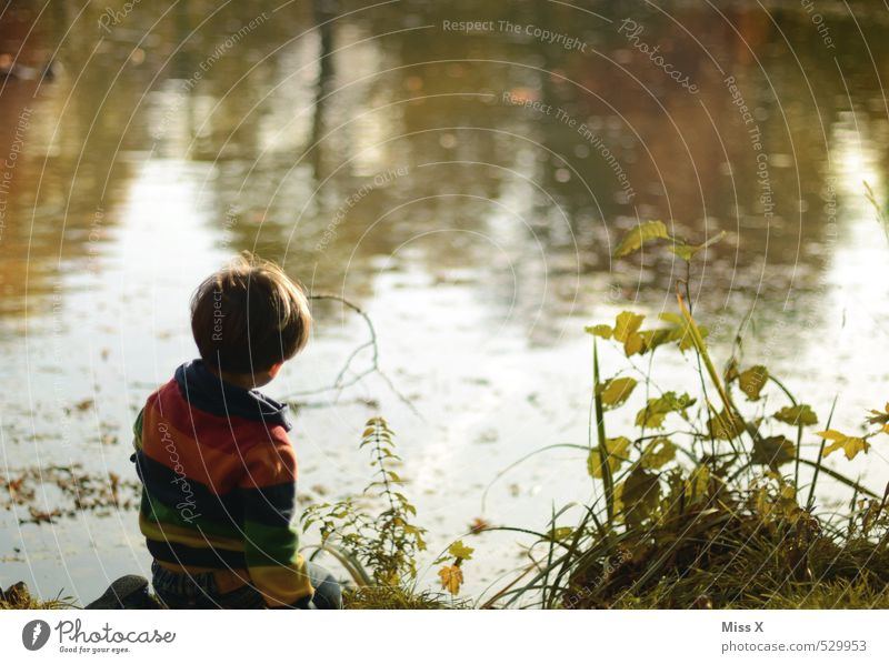 Human being Child Nature Water Calm Emotions Boy (child) Coast Playing Lake Moody Park Masculine Leisure and hobbies Infancy Contentment