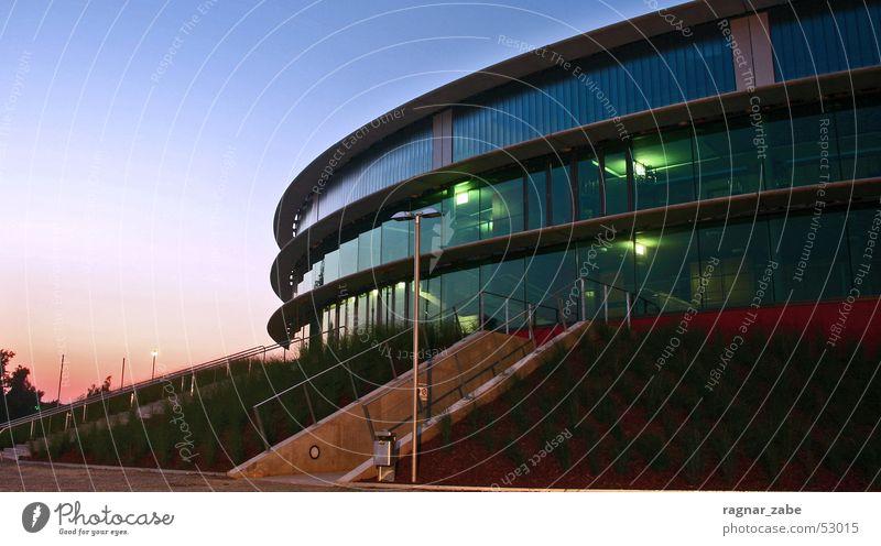 elvis has left the building EWE Arena Oldenburg Twilight Oval Basketball Modern ewe baskets Architecture