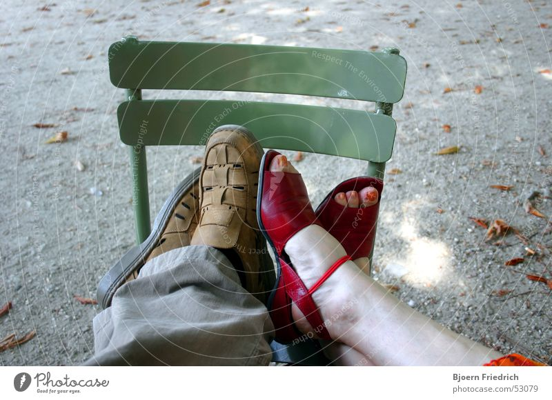 Flirting Feet Fatigue Relaxation Relationship Romance Human being Partner Couple Exhaustion Chair Near In pairs