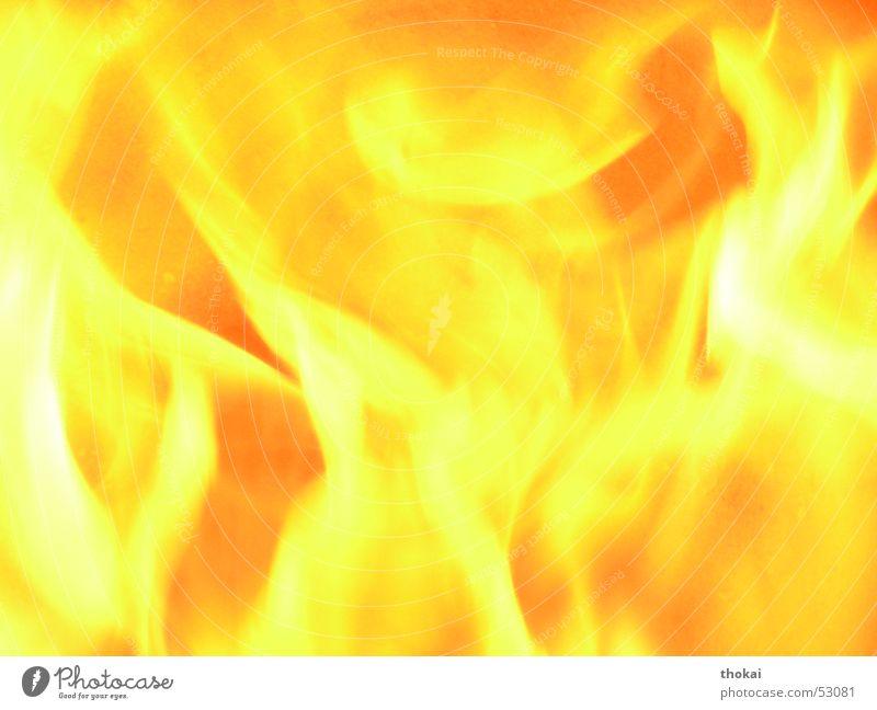 Yellow Orange Blaze Hot Burn Flame Glow Fireplace Torch
