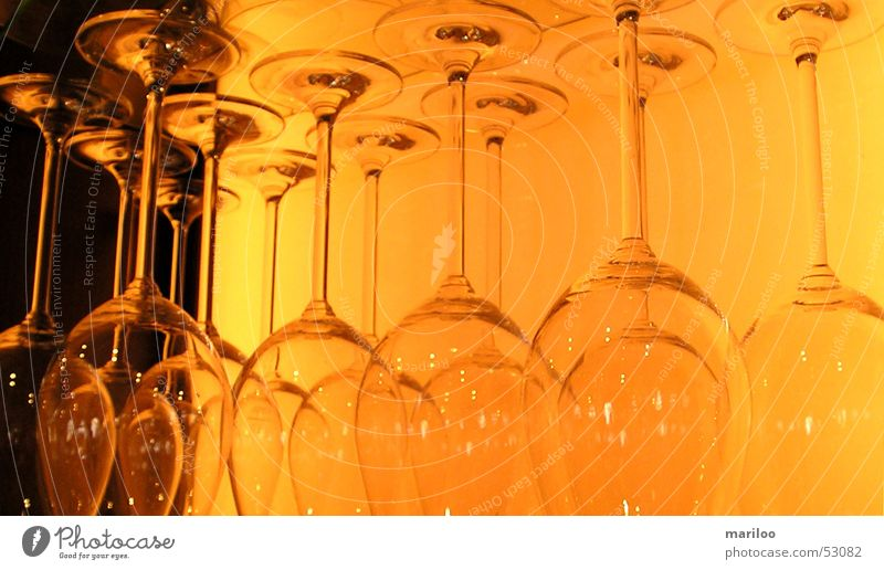 glassware Light Things Glass Orange Contrast