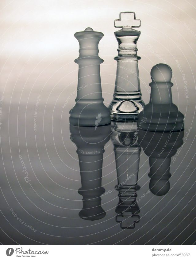 Family Playing Stand Reflection Gray White Transparent King Lady Chessboard milky Smoothness Clarity Glass Curve Back Royal Chess piece Rough