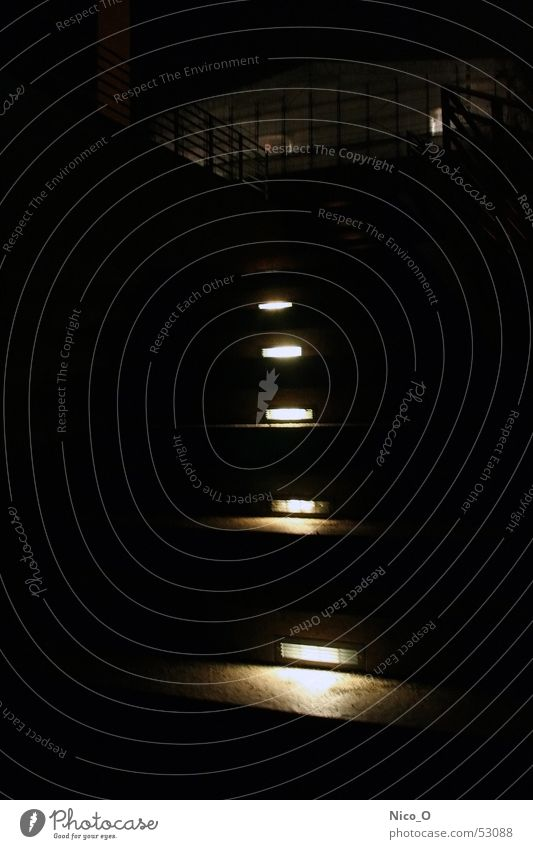 watch your step Light Night Stairs Hamburger Kunsthalle Light (Natural Phenomenon)