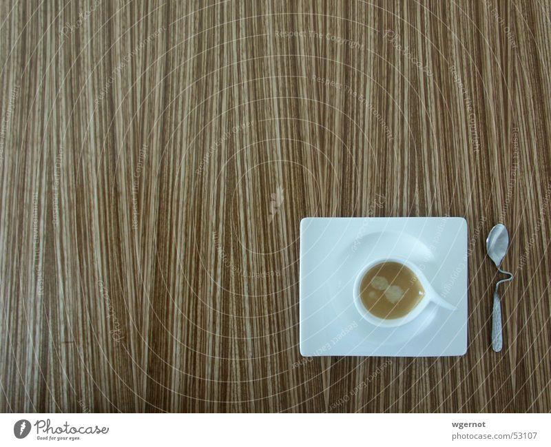 Wood Design Table Coffee Stripe Café Cup Cutlery Espresso Spoon Curved Tropic trees Villeroy