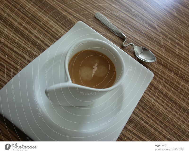 Wood Design Table Coffee Stripe Café Cup Espresso Spoon Curved Tropic trees Cutlery Villeroy