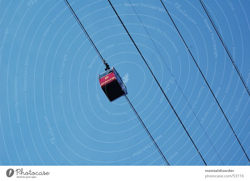 Human being Red Above Rope Railroad Driving Logistics 4 Steel Cologne Hang Coil Rhine Cable car Digits and numbers
