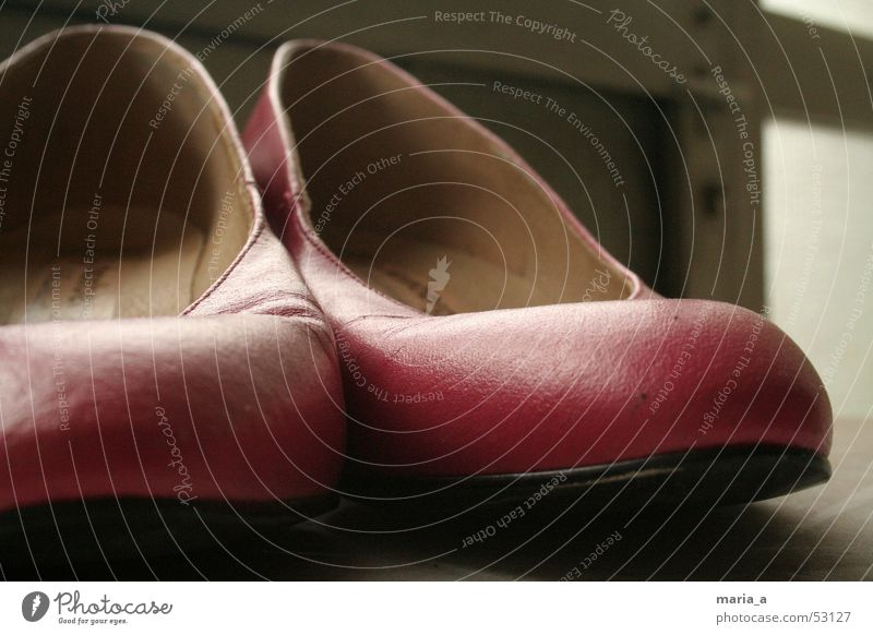 Pink shoes Footwear High heels Uncomfortable Second-hand Carried Forget Feminine Door handle Old