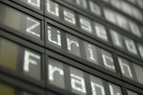 Business Airplane Signs and labeling Switzerland Airport Canton Zürich