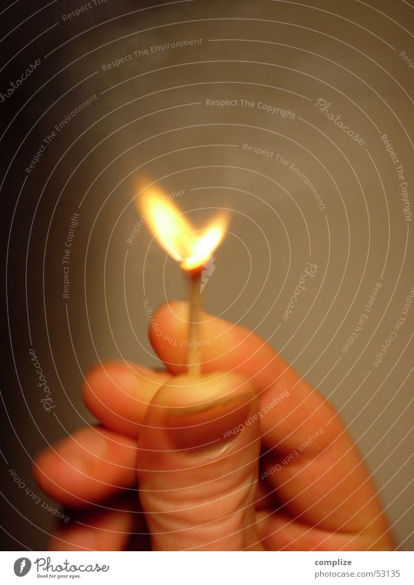 Hand Yellow Wood Warmth Brown Fingers Fire Hot Flame Match Thumb Fingernail Ignite Retentive Rousing