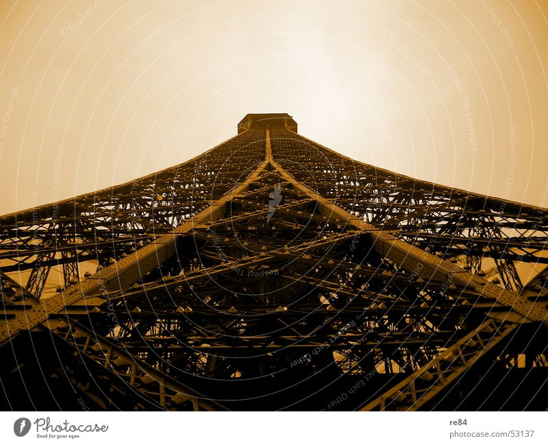 Sky Freedom Brown Earth Orange Fear Art Level Change Construction site Tower Exceptional Paris Steel France