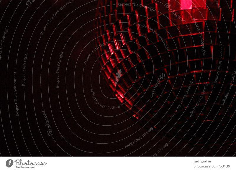 Red Black Dark Party Disco Mirror Sphere Disco ball Mosaic