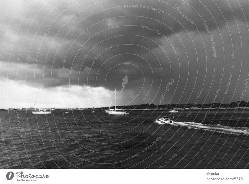 thunderstorms Coast Storm Bad weather Ocean Watercraft Navigation Weather Clouds