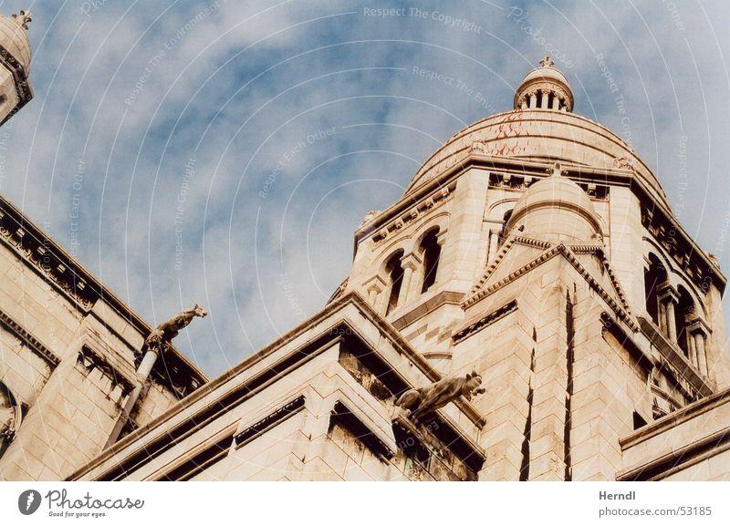 Sacré Coeur - Paris Sacré-Coeur Art Domed roof Wall (barrier) Religion and faith Sky Tourist Attraction Tower Architecture