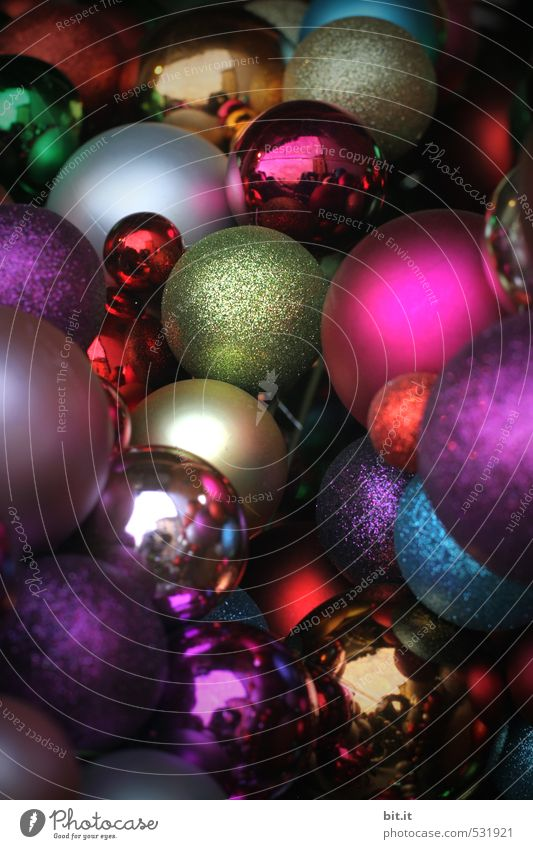 Christmas & Advent Lifestyle Feasts & Celebrations Moody Glittering Lie Living or residing Illuminate Decoration Glass Crazy Sign Round Many Kitsch Tradition