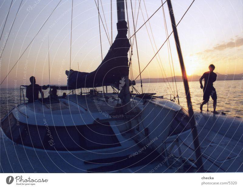 catamaran Navigation sailing catamaran sunset