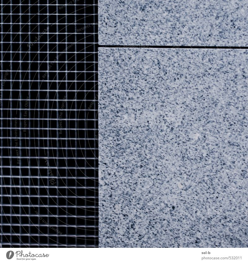 grid/line Town Building Architecture Wall (barrier) Wall (building) Esthetic Granite Grid Fence Safety (feeling of) Barrier Line Exceptional City life Modern