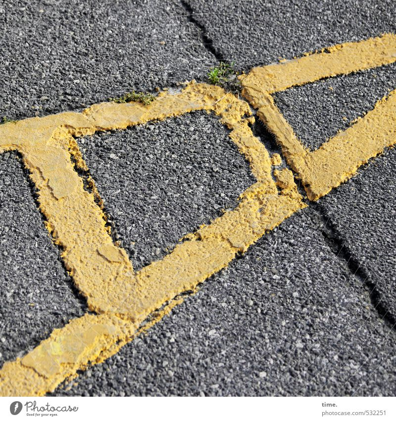 City Yellow Street Lanes & trails Gray Stone Line Art Transport Design Signs and labeling Arrangement Concrete Safety Mysterious