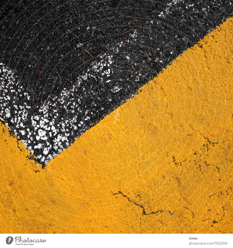 City Black Yellow Street Dye Lanes & trails Stone Line Transport Signs and labeling Arrangement Point Simple Transience Safety Asphalt