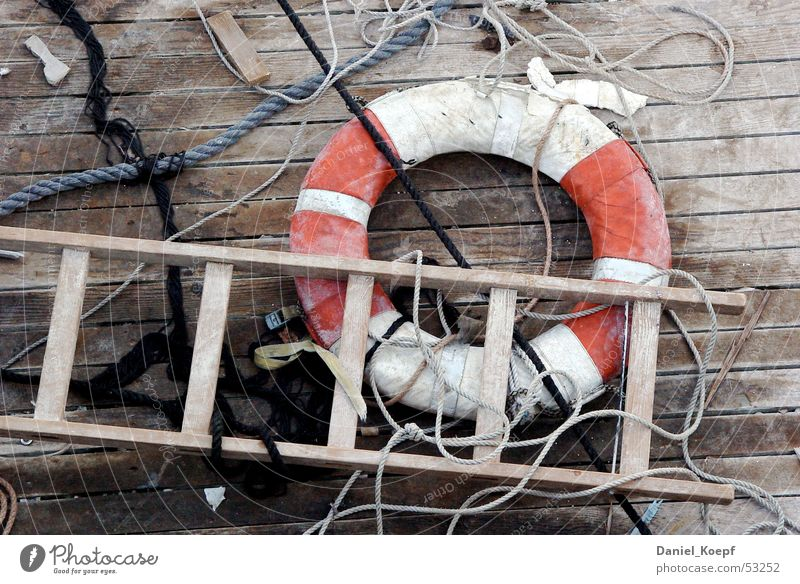 Rescue02 Rafts Meersburg Life belt String Plank Chaos Ocean Beach Navigation Nautical Rung Red Lake Constance platon Ladder Rope Handrail bol Hallway